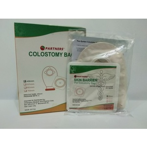 Colostomy bag with wafer clip 45 mm / set