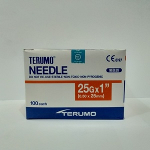 "Terumo -Disposable needle - 25 G x 1"" - 100's per box"