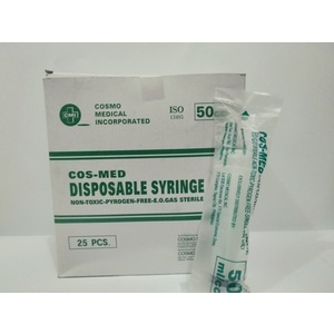 Cosmed - Disposable syringe - 50 cc - 100's per box