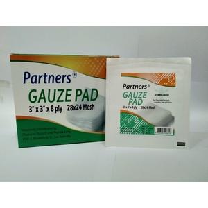 Gauze pad sterile 3in x 3in 100's per box