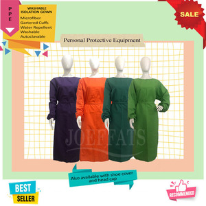 PPE isolation gown washable