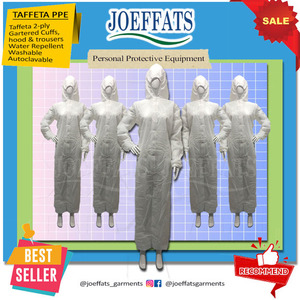 PPE coverall suit taffeta