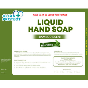 CleanProtect AntiBacterial Hand Soap - Bamboo Scent