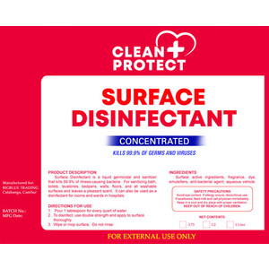 CleanProtect Surface Disinfectant (Concentrated)