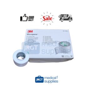 3M Micropore Surgical Tape 1 inch (12rolls) [New Packaging]