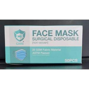 MG Care Disposable Protective Facemask - 50pcs/box
