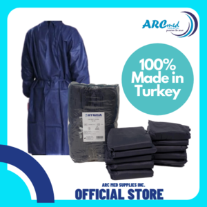 10 pieces 35gsm Disposable Isolation and Patient Gown by Hygieia Made in Turkey