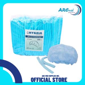 Hygieia Bouffant Cap 100's per bag in blue color