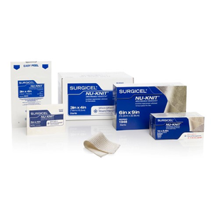 "Surgicel® Nu-Knit Hemostat 1"" x 1"" (2.5cm x 2.5cm) - Box of 12"