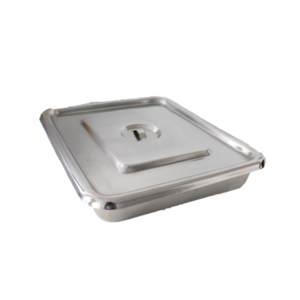 """Stainless Tray with Cover 12""""x10"""" Deluxe"""