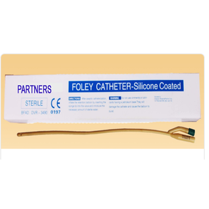 Partners FR12  Foley Catheter- Silicon Coated