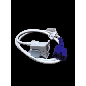 SpO2 Sensor 9 pins, Clip type - Pedia Size for GE Oximax