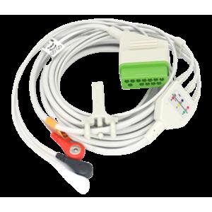 ECG Cable 3/5 Leads, 12 Pins Snap Type- Nihon Kohden 2301k - OEM