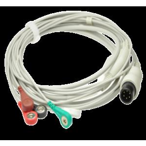ECG Cable 3/5 Leads, 6 Pins Snap Type -Criticare/Draeger/Vista120/Mindray/Edan/UTAS