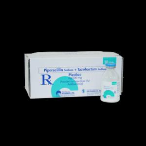 Pizobac (Piperacillin + Tazobactam) 4.5 g IV 10's