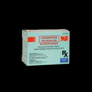 Hyperthree (Losartan Potassium) 50 mg Tablet 100's