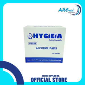 HYGIEIA STERILE ALCOHOL PADS 200 SWABS per pack