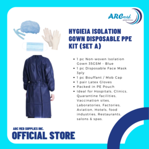 HYGIEIA Isolation Gown Disposable PPE Kit (Set A)