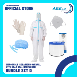 Disposable Isolation Coverall with Heat Seal Non Woven Bundle E