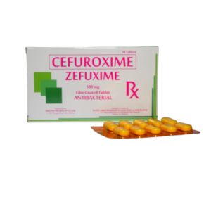 """Cefuroxime (as axetil)                                                             """"Zefuxime""""                                                                                            - 10 tablets/box"""