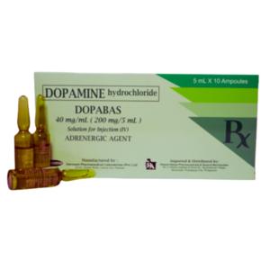 """Dopamine hydrochloride                                                       """"Dopabas""""                                                                                              - 10 ampoules/box"""
