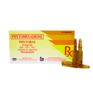 """Phytomenadione (Vitamin K1) """"Phytobas"""" - 10 ampoules/box"""