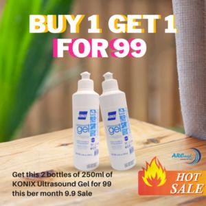 (BUY 1 GET 1 FREE) Konix Ultrasound Gel 250ml Blue