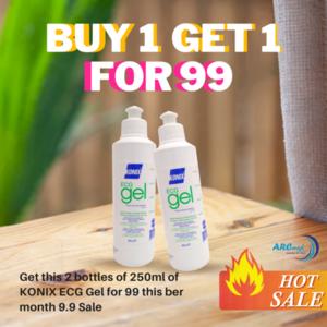 (BUY 1 GET 1 FREE) KONIX ECG Gel 250ml