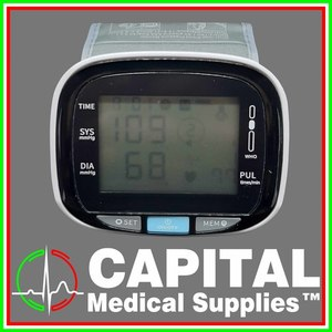 WINGUARD, Wrist Blood Pressure Monitor, Color, White 1 unit