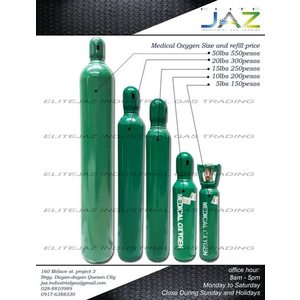 20lbs Medical Oxygen Tank (Tank with Full Content Only)