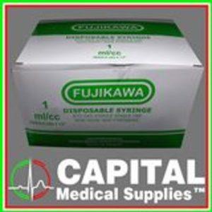 "FUJIKAWA Disposable Syringe 1cc, 26gx1/2"""