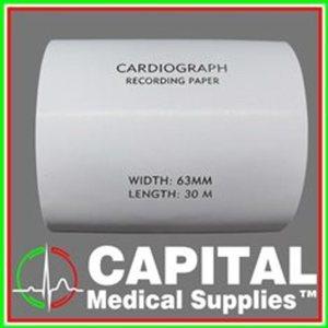 FUJIKAWA, Cardiograph Recording Paper, (63x30mm), 1 roll
