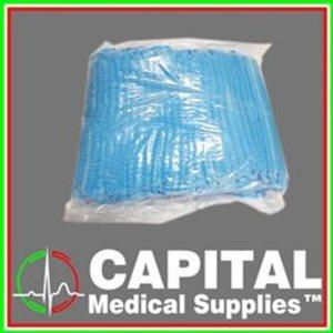 WINGUARD Clip Cap, Head Cover, Caterpillar Type, Disposable, Non-Woven Fabric Bouffant, 100 pc