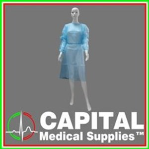 WINGUARD, PPE, Medical Isolation Gown, Non-Woven, Color Blue, 1 pc