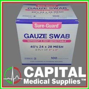 SURE-GUARD, Gauze Swab, (3x3 8ply) 100 pcs