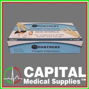 Partners, Tongue Depressor, Disposable, Non-sterile 100 pcs