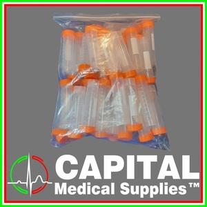 WINGUARD, Centrifuge Tube Plastic 50 ml, , (Orange Cup ), 50 pcs