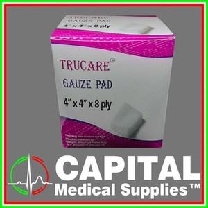 TRUCARE, Gauze Pad, 4 x 4, 8Ply, Sterile