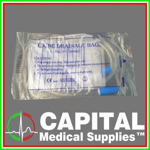 WINGURAD, Urine Bag (Drainage Bag) Sterile, 2000 ml, 1 pc