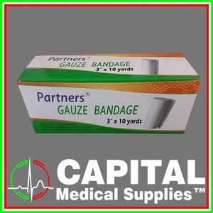 Partners, Gauze Bandage, 3x10 yards, 12 rolls