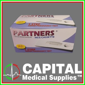 PARTNERS, HCG Cassette, Urine PT Pregnancy Test Kit, 100 pcs