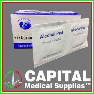 WINGUARD, Alcohol Swab (Pad), 100 pcs