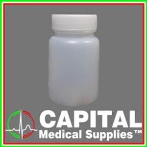 WINGUARD, Drug Testing Bottle, Urine Cups White Plastic, 60 ml Screwcap 100 pcs