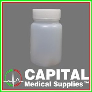 WinGUARD, Drug Testing Bottle, Urine Cups White Plastic, 60 ml Screwcap, 10 pcs